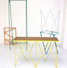 Vibrant Wire Furniture - &New;'s 'Less is Fun' Collection Marries Clean Forms and Colorful Hues (GALLERY)
