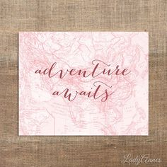 ADVENTURE AWAITS Printable 8x10 Digital Art Print by LadyAnnes