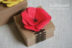 paper flower tutorial by A Little Hut, via Flickr