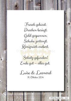 Druck/Print: Märchen - Liebe/Hochzeit/Verlobung