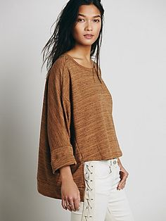 Comfy with a cool high-low hem.