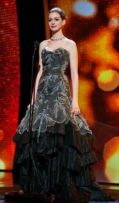 Anne Hathaway in couture Vivienne Westwood