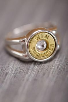 Bullet Ring on Bourbonandboot.com  a 'portion' of the cost is donated to the Wounded Warrior Project.