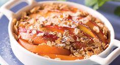 Crumble aux nectarinesVoir la recette >>