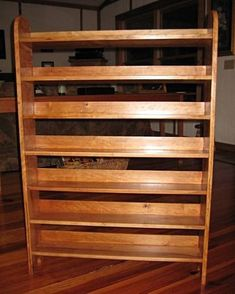 View A Larger Image Of The Wood Shed Solid Oak Dowel Cd Rack Tws 901