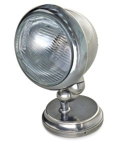 How awesome in a car themed bedroom! Love it!! Vintage Industrial Steel Headlight Sconce by Hip Vintage