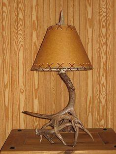 Whitetail Antler Lamp Antlers Rustic Primitive Deer | eBay