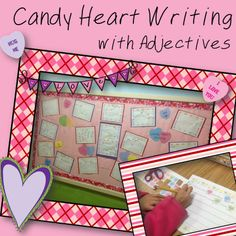 Candy Heart Writing with Adjectives