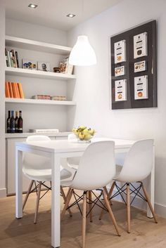 Dinning Table Design, Wooden Dining Tables, Dining Area, Studio Apartment Decorating, Apartment Design, Living Room Ides, Sliding Room Doors, Sweet Home, House Design