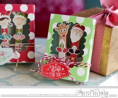 Matchbox with holiday pin up clips