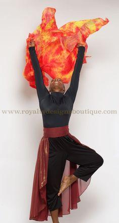 NEW** Watercolor SILK FIRE VEIL /Manto de fuego!! - Royalty Designs Boutique