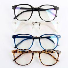 Stylish Unisex Tide Optical Glasses Round Frame Eyeglasses Metal Arrow UV400 Lens Eyewear