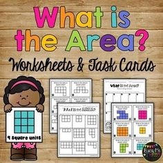 These are great activities for students studying area. There are task cards and 6 worksheets. This would be great for a math station or for guided or independent work! I used this for my second graders as practice and for a grade. Nonstandard Measurement, Measurement Worksheets, Area Measurement, Third Grade Math, Second Grade, Grade 1, Math Stations, Math Centers, Area Worksheets