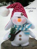 Yulia Gula's photos Christmas Makes, Christmas Crafts, Xmas, Christmas Ornaments, Snowman Crafts, Felt Crafts, Felt Toys, Snowball, Art Dolls
