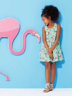 La robe qui tourne -le modèle préféré des petites filles ! Collection printemps-Eté 2016 - www.vertbaudet.fr
