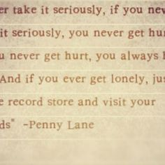 If you never take it seriously, you never get hurt