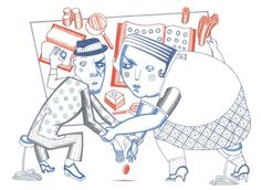 Magazine ilustration by Alain Corbel