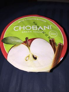 Chobani Greek yogurt apple cinnamon blended