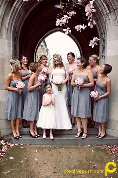 gray & light pink for a wedding combo
