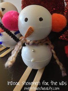Indoor Snowmen for decorating
