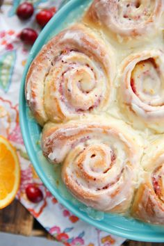 Cranberry Orange Rolls from Our Best Bites
