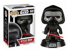 Cabezón Kylo Ren, 10cm. Star Wars Episodio VII. Funko POP Estupendo cabezón basado en la nueva película de Star Wars: El Despertar de la Fuerza, con el personaje Kylo Ren, de 10cm.
