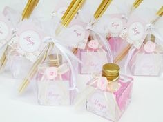 Mini aromatizadores de varetas para lembrancinha de maternidade