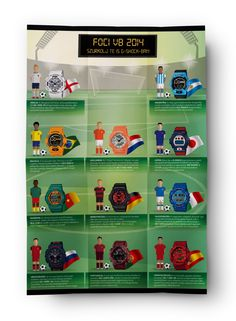 Casio - Foci G Shock, Infographics, Sports, Hs Sports, Infographic, Sport, Info Graphics, Visual Schedules