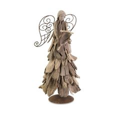 Driftwood Christmas Angel with Scroll   Coastal Style Gifts.