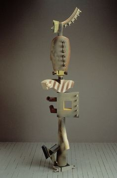 Michael Hough, ceramic sculpture, Squared, 81 in. tall, 1993