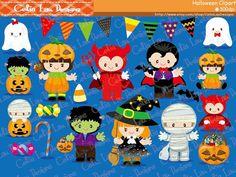 Halloween Baby Clip art Halloween Clipart by CeliaLauDesigns, $5.00