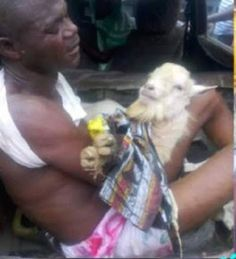 See How A Suspected Thief Was Disgraced In Public For Stealing A Goat In Akure (Photos)