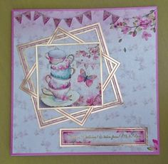 Hunkydory Shimmering Pearl Handmade 7 x 7 Greeting Card Birthday by BavsCrafts on Etsy Card Birthday, Birthday Greeting Cards, Greeting Cards Handmade, Hunkydory Crafts, Hunky Dory, Crafters Companion, Cellophane Bags, Cardmaking, Decorative Boxes