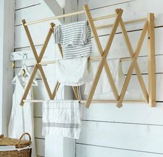 Domestic Science: A New Limited-Edition Collection of Household Wares from Ikea - Remodelista Wall Drying Rack, Drying Rack Laundry, Laundry Basket, Ikea Laundry, Interior Ikea, Ikea Fans, Scandinavian Cottage, Laundry Solutions, The White Company