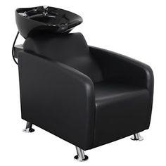 Barber Shampoo Chairs and Units Best Salon Shampoo, Shampoo Bowls Salon, Shampoo Chair, Home Hair Salons, Beauty Salon Names, Black Bowl, Salon Chairs, Salon Equipment, Salon Furniture