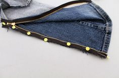 How to Turn Bootcut Jeans into Skinny Jeans via Brit + Co.