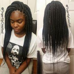 Jumbo Box Braids by fingertipcreated