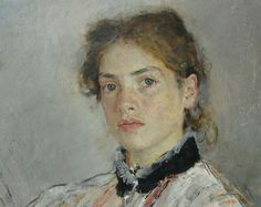 Valentin Serov ( Russian Painter, 1865-1911), Portrait of Nadezhda Derviz with Her Child 1889 (detail) - Google Search
