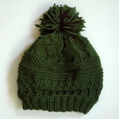 Knit Sampler Beanie, A Free Pattern      
