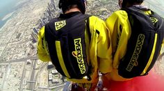 Skydive Dubai sponsored Soul Flyers World Champions Vince Reffet and Fred Fugen break a new World Record by BASE jumping from above the pinnacle of the World's Tallest Building.  Brought to you by Dubai Film Production. Music Licensed by The Rights Workshop