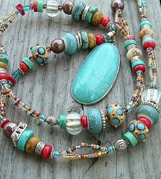Multicolor Boho Cowgirl Western Style Necklace by BohoStyleMe.