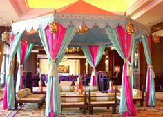 Raj Tents has the most incredible tents. I would like one inside a bedroom. First saw them on David Tutera's My Fair Wedding Moroccan Party, Moroccan Theme, Indian Party, Arabian Theme, Arabian Party, Aladdin Birthday Party, Aladdin Party, Arabian Nights Wedding, Arabian Nights Theme Party