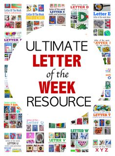 The Ultimate Letter Of The Week Resource For Preschool – No Time For Flash Cards letter of the week curriculum for preschool – great for traditional and more relaxed approaches to letter of the week activities for preschool and PreK. Preschool Literacy, Preschool At Home, Preschool Lessons, Kindergarten, Preschool Weather, Preschool Schedule, Homeschool Preschool Curriculum, Preschool Books, Teaching Letters