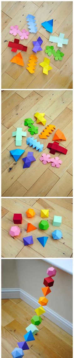Colourful Geometric Shapes - Paper Crafts - DIY