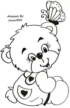 Coloring Pages - Teddy Bear Bear Coloring Pages, Adult Coloring Pages, Coloring Pages For Kids, Coloring Sheets, Coloring Books, Embroidery Patterns, Hand Embroidery, Digital Stamps, Printable Coloring