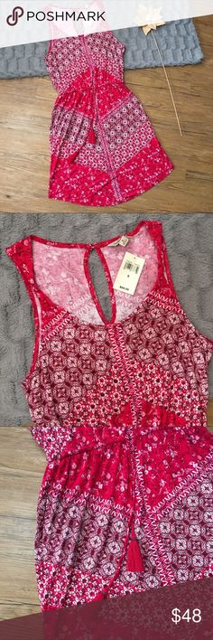Lucky Brand Red Dress Conditions: New with tags. Very cute dress. Lucky Brand Dresses