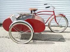 Red Bicycle with sidecar zijspan fiets Tricycle, Bike With Sidecar, Side Car, Motorized Bicycle, Trike Bicycle, Recumbent Bicycle, Push Bikes, Bicycle Women, Cool Ideas