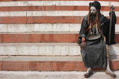 Resting sadhu  Varanasi, India
