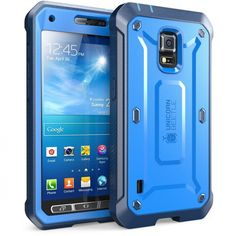 Samsung Galaxy S5 Active Rugged Hybrid Phone Case Cover Screen Protector Blue US 46144970663 | eBay