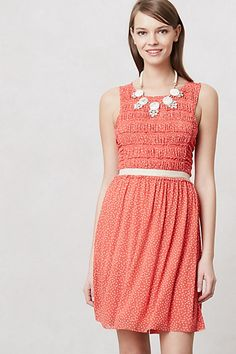 Tiny pink polkadots are too cute! >> Swiss Dots Dress (Anthropologie)